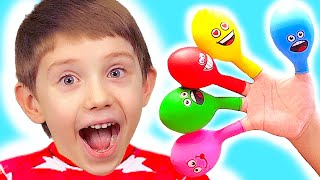 Finger Family Colors Song ( Mommy Finger ) Balloon Version Baby Nursery Rhyme