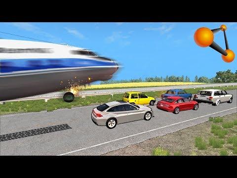 АВАРИЙНАЯ ПОСАДКА НА АВТОМАГИСТРАЛЬ НА СКОРОСТИ 350 КМ/Ч | BeamNG.drive