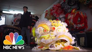 How Gen Z Is Preserving The Longstanding Traditions Of Lunar New Year Lion Dancing | NBC News