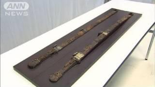奈良の東大寺に埋められていた2本の大刀が、1250年間行方不明だった聖武...