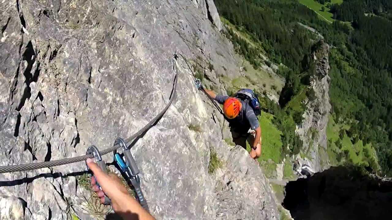 Klettersteig Switzerland : Kandersteg klettersteig allmenalp youtube