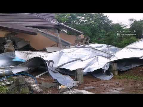 Destruction in parts of a San Jose Del Monte, Bulacan barangay after a water tank explosion