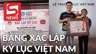 Bà Tân Vlog chính thức được cấp bằng xác lập kỷ lục Việt Nam