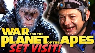 War for the Planet of the Apes - On Set with Cast and Crew!