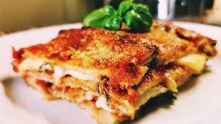 Патладжан на фурна. Пармиджана - вкусна, традиционна рецепта от италианската кухня.