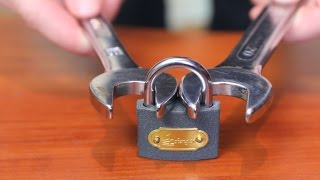 How to open a lock with a nut wrench(Hi, there, my friends, in this video I am going to show you an unusual idea to force open a check-lock if you happened to lose your key. That is all folks I wished ..., 2016-02-28T17:34:18.000Z)