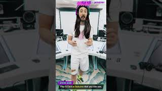 STEVE AOKI says Hi to amazer