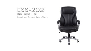 OFM Essential Big & Tall Leather Executive Office Chair Model ESS-202
