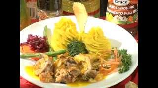 Grilled Tropical Pork Tenderloin with Mango Ginger Sauce - Grace Foods Creative Cooking