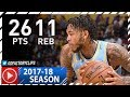 Brandon Ingram Full Highlights Vs Sixers 2017 11 15 26 Pts 11 Reb mp3