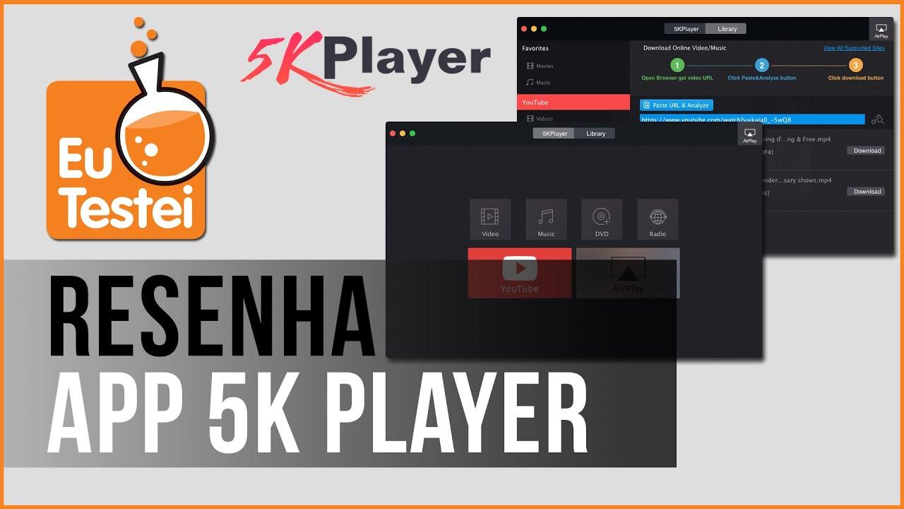 App 5K Player - Vídeo Resenha EuTestei Brasil