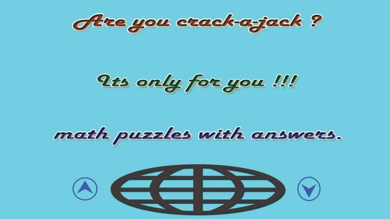 Math puzzles with answers - YouTube