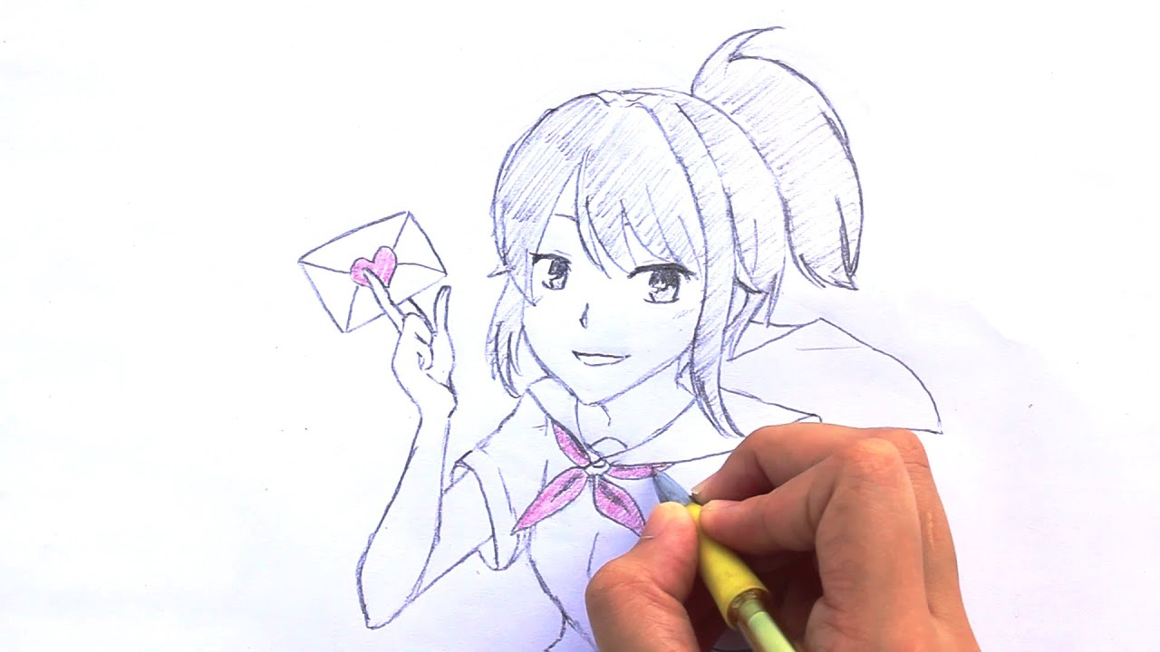 How To Draw Yandere Chan From Yandere Simulator Youtube