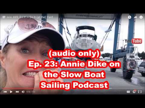 Ep. 23: (audio only) Havewindwilltravel.com's Annie Dike on the Slow Boat Sailing Podcast