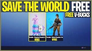 *NEW* Fortnite: SAVE THE WORLD FOR FREE GLITCH! | (Earn FREE V-Bucks)