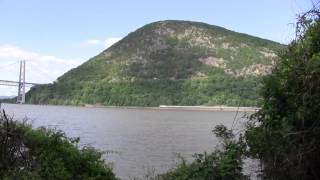Two Trains From Across the Hudson River at Bear Mountain 5/31/14