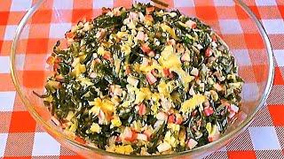 Простые салаты.Салат из морской капусты.