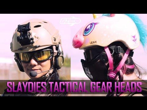 Slaydies Tactical Gear Heads - Unicorn Leah & Adella Relentless - Airsoft GI