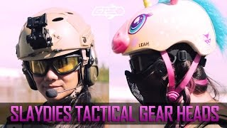 Slaydies Tactical Gear Heads - Unicorn Leah & Adella Relentless - Airsoft GI