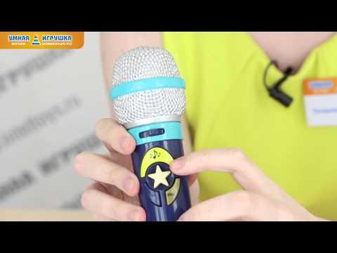 Детский микрофон с караоке и функцией записи Okideoki (Battat)