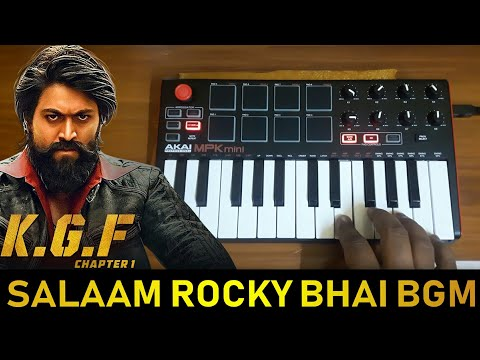 KGF - Mass Salaam Rocky Bhai BGM REMIX   Cover BY Raj Bharath   #yash