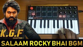 KGF Mass Salaam Rocky Bhai BGM REMIX | Cover BY Raj Bharath | #yash