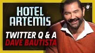 Dave Bautista Wants To Play Marcus Fenix in Gears of War Movie!  | Hotel Artemis Twitter Q&A