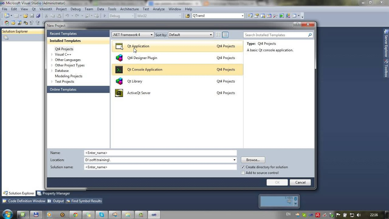 Введение в программирование на Qt под Windows в VS2010   Часть 1