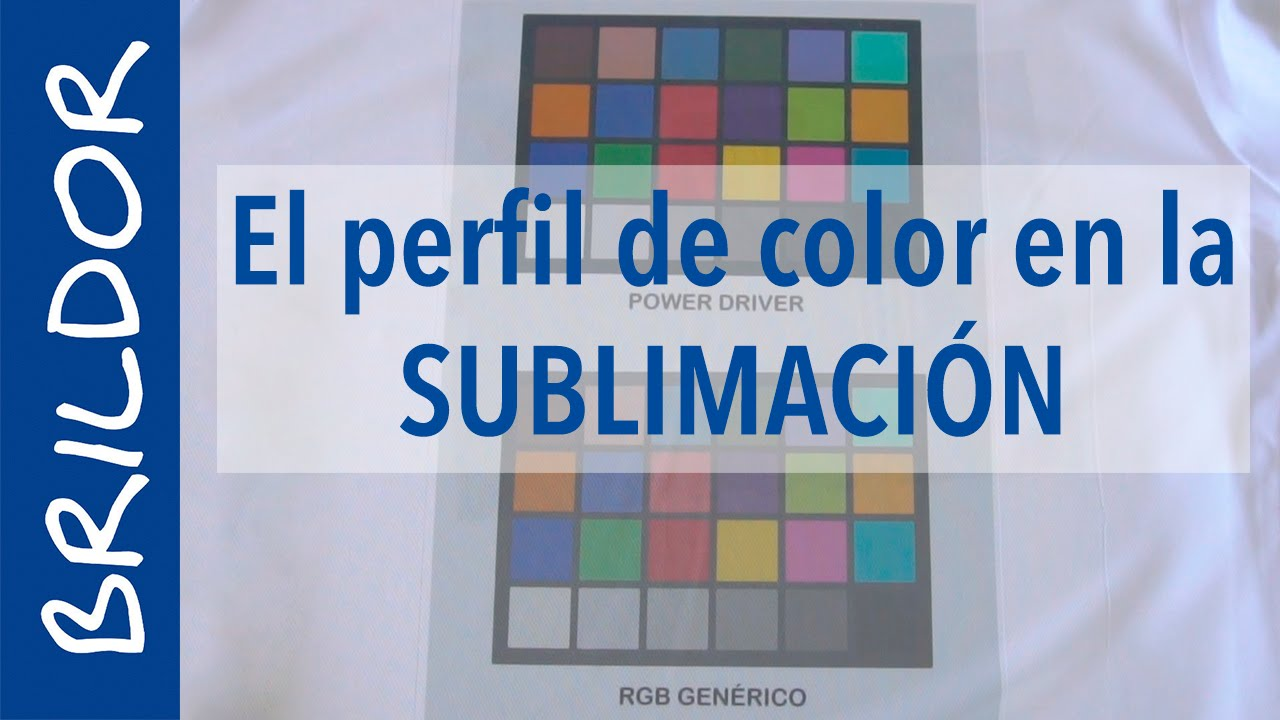 El perfil de color en la sublimación - YouTube