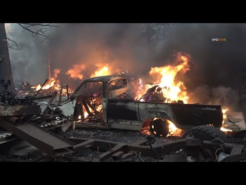 Homes are lost in the Tennant Fire that is burning near the California/Oregon border. 062921