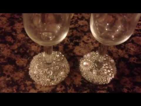 Diy Wine Glass Decoration Youtube