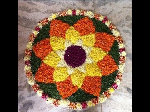 10 IDEAS for POOKALAM - flower carpet - YouTube