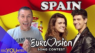 Spain in Eurovision: All songs from 1961-2018 (REACTION)