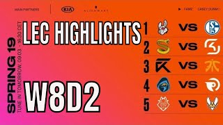 LEC Highlights ALL GAMES Week 8 Day 2 Spring 2019 League of Legends European Championship