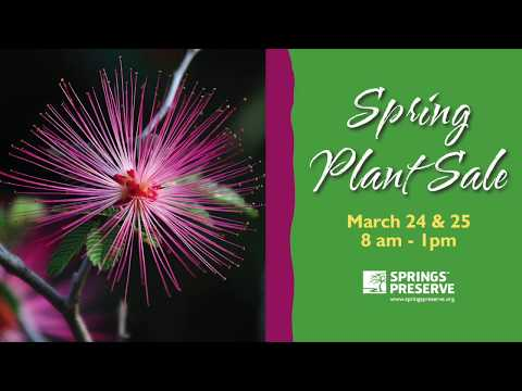 Spring Plant Sale, March 24 & 25, 2018