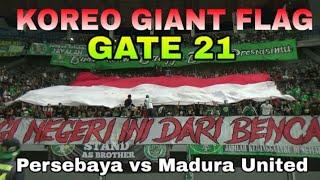 Sebuah Koreo Bonek Gate 21 untuk Indonesia Persebaya vs Madura United