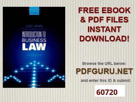 To business pdf introduction law