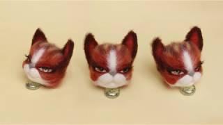 Делаем кошку на каркасе. Часть 1 -  голова.