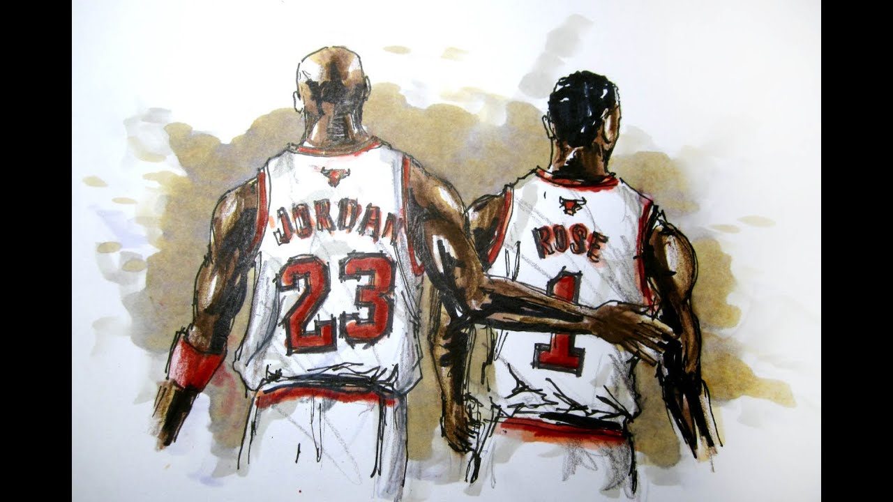 how to draw michael jordan sign