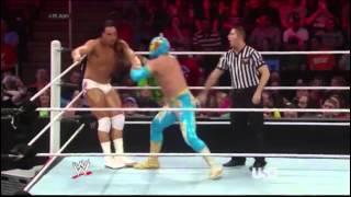 Bo Dallas debut on Raw vs Sin Cara 26/5/14 [FULL MATCH][HD]