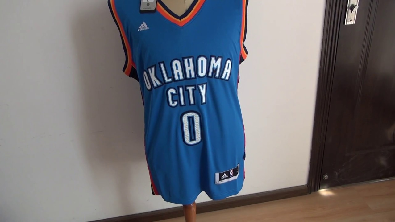 best cheap 068ac bd577 NBA Oklahoma City Thunder #0 Russell Westbrook jersey unboxing-jerseys.ru  review