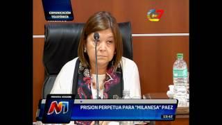 Prisión perpetua para Milanesa Páez por el crimen de Patricia González