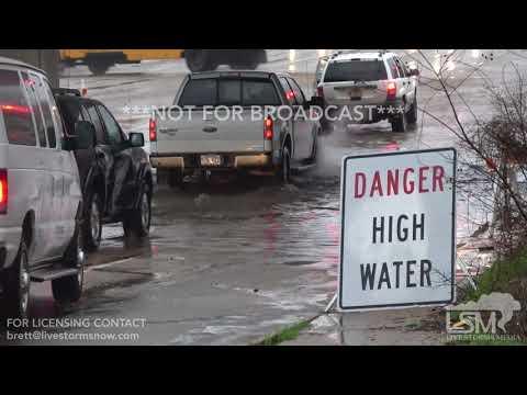 2 28 18 Texarkana, AR Significant Flash Flooding Hydroplane Wreck Flooded Roads Flooded Railway
