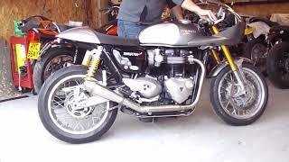 Triumph bonneville best exhaust sound ever tec 2 2 short sprint