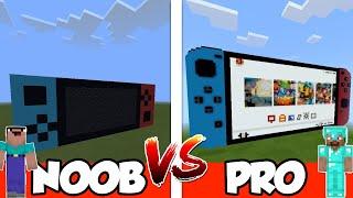 NOOB vs PRO: NINTENDO SWITCH in Minecraft PE