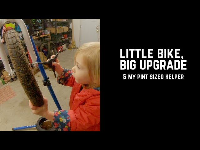 Upgrading her run bike: a quick vlog