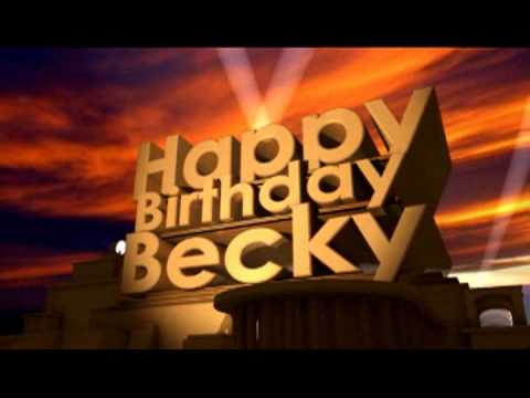 Happy birthday becky youtube happy birthday becky altavistaventures Images