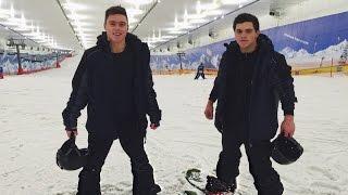 Олимпийская спорт база. Чуть не разбился на сноуборде. Злой Енот погрыз руку