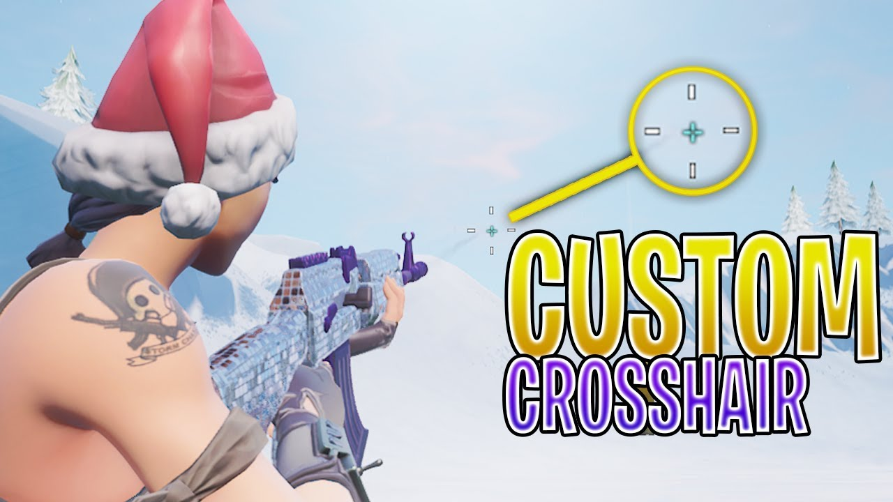 How To Get A Custom CrossHair on Fortnite  ! (BANABLE NOW DO NOT USE IT  ANYMORE)
