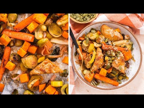 Tempeh and Veggie Sheet Pan Dinner | the best way to make roasted veggies!